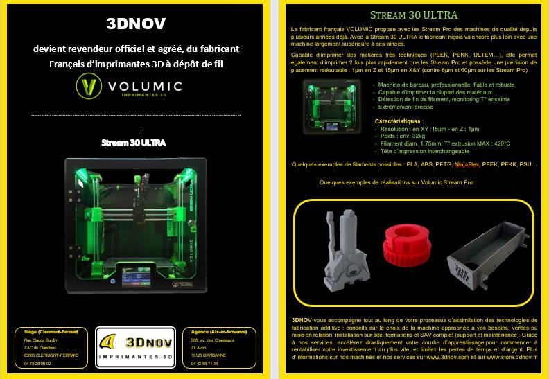 3DNOV devient revendeur officiel et agréé, du fabricant Français d'imprimantes 3D à dépôt de fil
